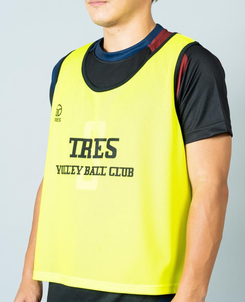 バレーボール用オリジナルビブス画像 側面・男性モデル|トレスバレーボール