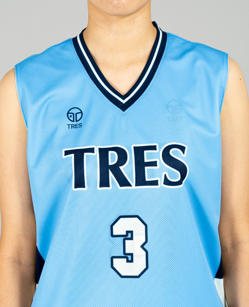 バスケットボール用リバーシブルウェア画像 正面・モデル トレスバスケットボール