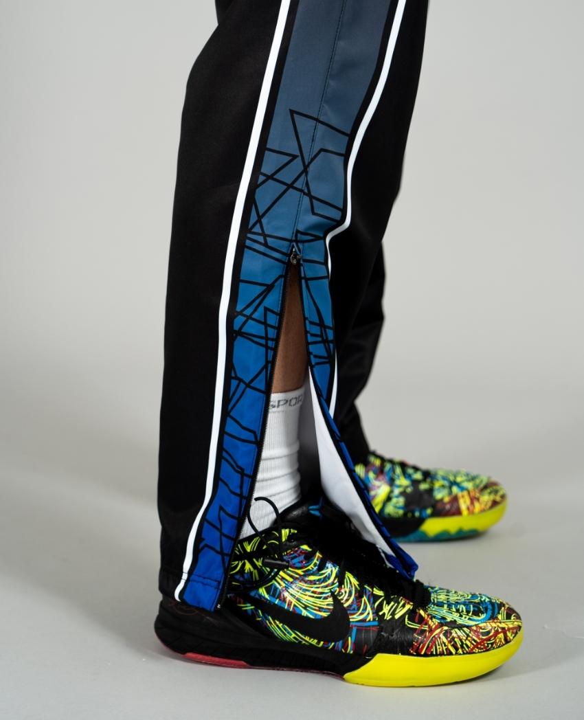 バスケットボール用ウィンドブレーカーパンツ画像 正面・男性モデル トレスバスケットボール