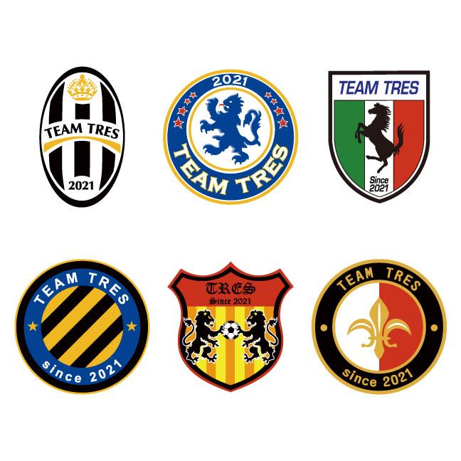 サッカー、フットサル用プラクティスシャツ ロゴ画像 トレスフットボール