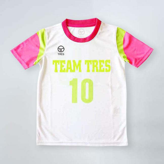 サッカー、フットサル用ジュニアサイズユニフォーム画像 トレスフットボール