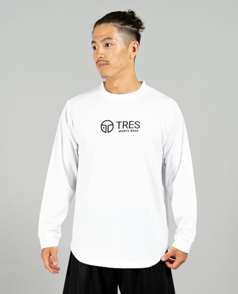 バスケットボール用イージードライシャツ ロンT画像 正面・男性モデル|トレスバスケットボール