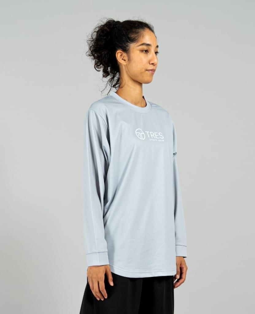 バスケットボール用イージードライシャツ ロンT画像 側面・女性モデル|トレスバスケットボール